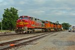BNSF 612 Heads Nb now with a crew!