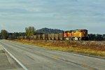 BNSF 8897 Leads a coal drag down the K line.