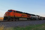 BNSF 5872 Get's under way with a empty coal.