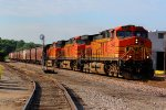 BNSF 5640 3 units lead a Sb grain train.