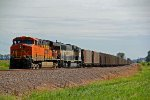 BNSF 6213 Waits for TK to clear.