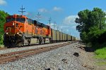 BNSF 5944 leads a Sb coal load!