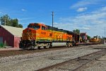 BNSF 4450 Heads up a Mow train Nb.