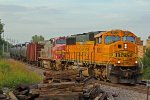 BNSF 8952 Leads a loaded Oil can with a Santa Fe dash 8 2nd out!