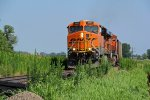 BNSF 5990 Rolls a coal load WB!!