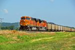 BNSF 6336 Slows with a coal train!
