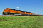 BNSF 6336 Heads Wb on a great Blue Sky day!