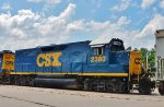 CSX 2380 looks like she took a few hits in the long hood.