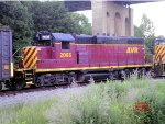 Allegheny Valley RR GP 11 #2005 on the mainline behind Lawrenceville Commerce Park.