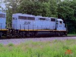 Allegheny Valley RR GP40-3 #4002 on the mainline behind the Lawrenceville Commerce Park.