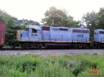 Allegheny Valley RR GP40-3 #4004 on the mainline behind the Lawrenceville Commerce Park.