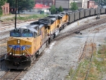 UP 5991 on the point of CSX N288 coal train
