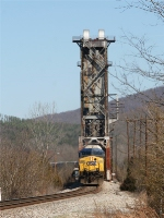 CSX 209 crossing over the Tennessee River draw bridge