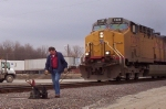 UP 7237 and Switchman