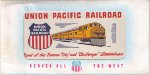 Union Pacific Ticket Book Cover Seen Through the Plastic Window on Its Envelope