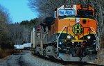 Burlington Northern Sante Fe GE C44-9W 1019  heads  East   thru  Hunterdon County