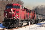 CP 9716  HEADS  south  on  The  River Line thru Teaneck, N J