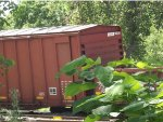 The derailed boxcar