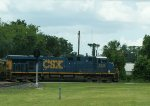 CSX 5325 leads the Juice Train north past the Ocala Train Station.