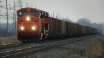 BNSF 6189 on with NS #665