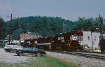 A NS Inspection train arrives at Saluda.