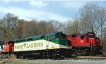Maine  Eastern  &  Morristown &  Erie   with  Ex  CN 3562  at  Lake  Jct  in  Morris  County  , NJ