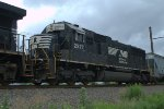 NS SD70 2577 trails on 17G