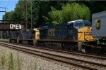 CSX ES40DC 5288 trails on Q032-25