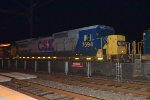 CSX C40-8 7594 trails between an ES40DC and a YN3 C40-8 on Q438-10