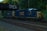 CSX Road Slug 2358 trails on Q706-23