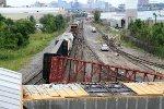 Q438-27 derailment looking east