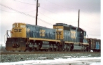 CSX Avon yard hump set in both in new YN3 scheme