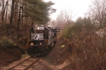 p90 starts down grade at mp17.5 with a small train