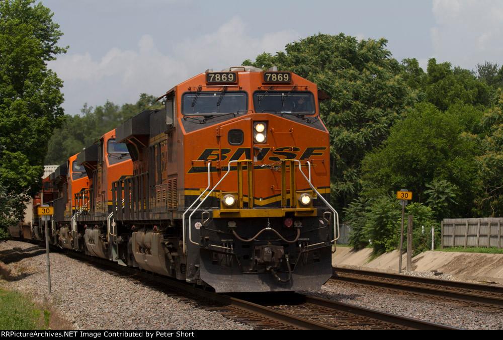 BNSF7869, BNSF7029, BNSF5499 and BNSF5438