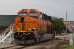 BNSF6581 on display at the station