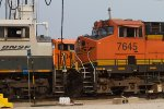 BNSF7645 and BNSF9552 in the yard