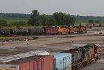 BNSF6157,BNSF1026, CSX5535 and BNSF753