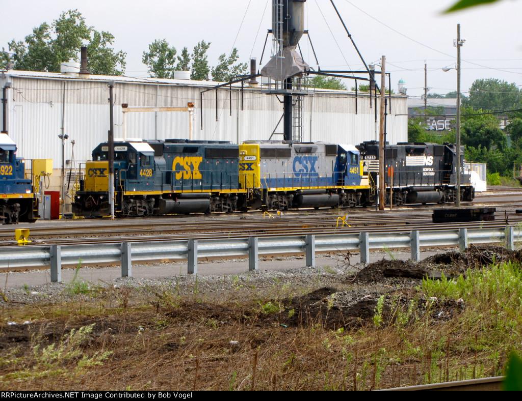 CSX 4428 and 4451; NS 5235