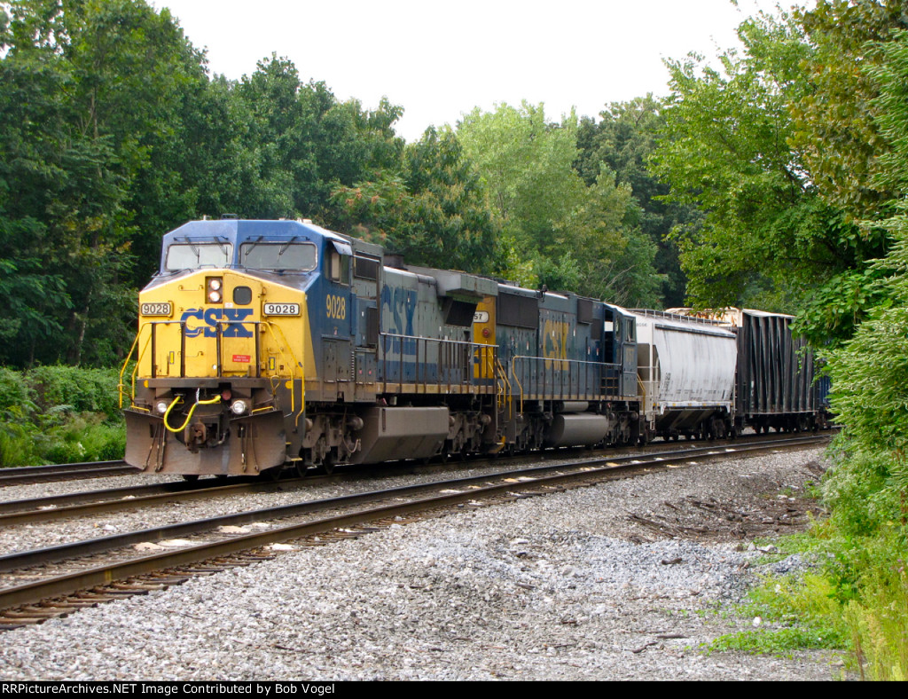 CSX 9028 and 8757