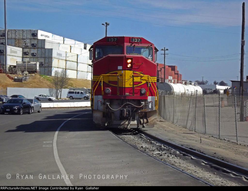 BNSF 137 in Watson Yard