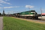 The Southern Heritage unit rolls through Grand Rapids leading Q335-17