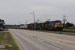 Q326 comes east on Track 2 alongside Chicago Dr