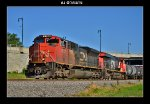 CN 8002 & 2267 lead a southbound manifest