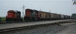 CN 6010 & CN 5606 with grain cars