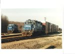CR 7659, and 8190 work the Conrail Goodman Yard in Lordstown Ohio. copyright Ray McClintock