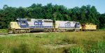 CSX 6900 and a Sluch with a Caboose at Deforest Junction