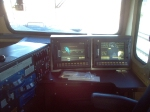 In cab of CSX 5254.