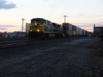 Q156 heads south racing the last light of the day, heading for Kearny, NJ