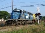 CSX Q156 power ties back onto its train on the NYS&W