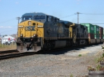 Southbound stack train rumbles past heading for Kearny Yard